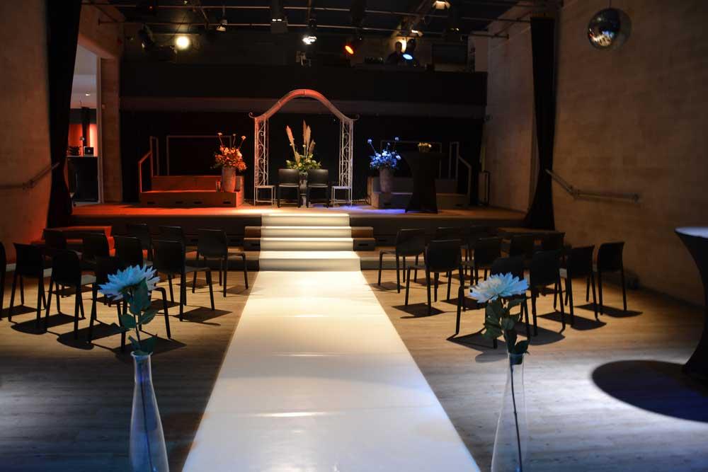 Impressie privé evenementen Theaterzaal Bruiloft en trouwfeest