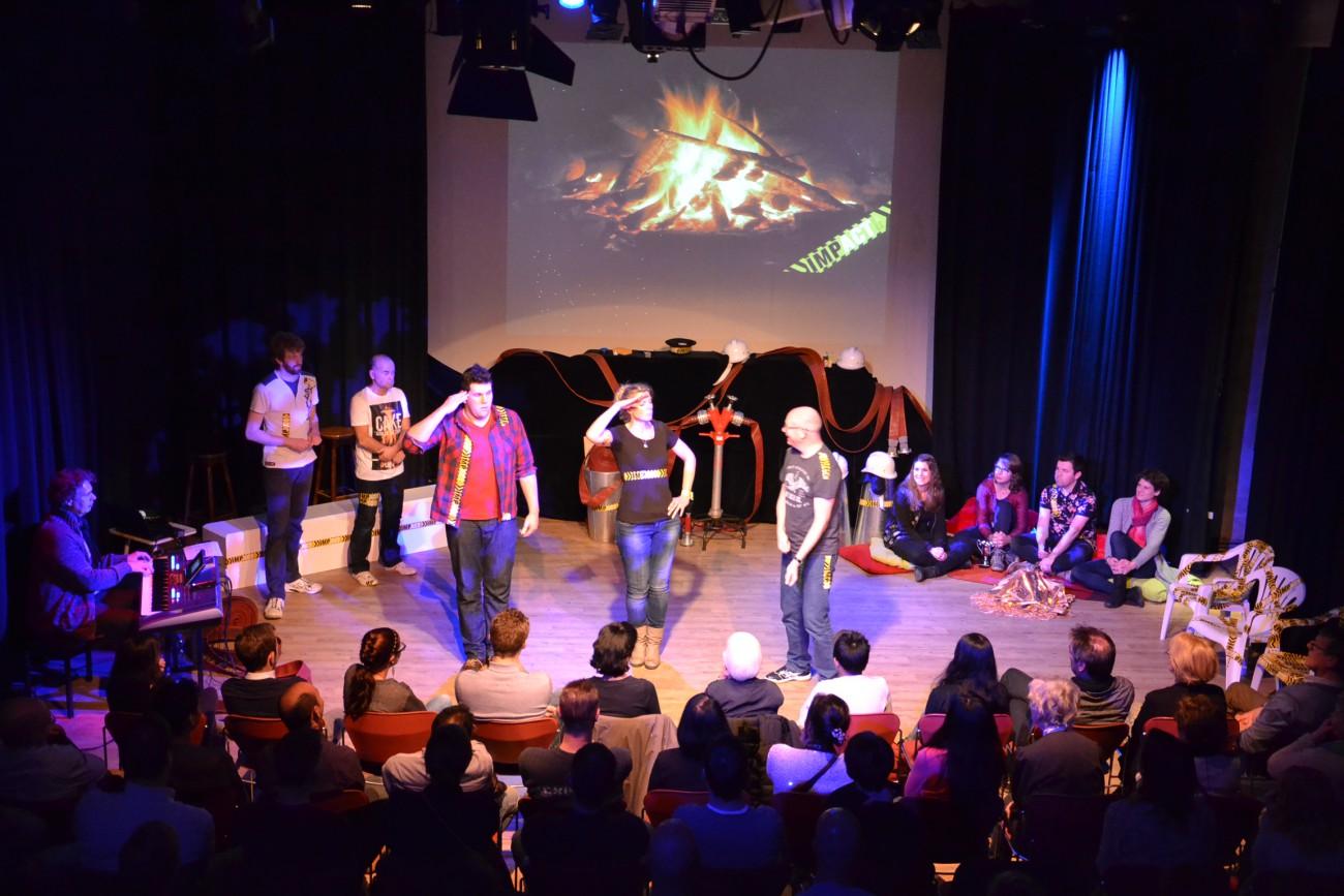 Impressie privé evenementen theaterzaal voorstelling Impact